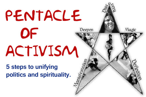Pentacle of Activism - 5 steps to unifying politics and spirituality.