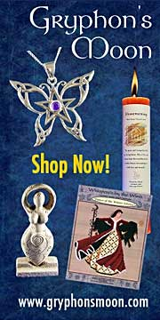 Celtic & Pagan Jewelry, housewares, clothing, cross-stitch patterns, gifts and magical supplies.