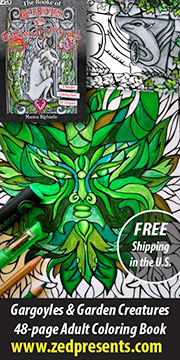 Garden Creature coloring book.