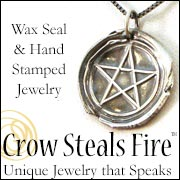 Crow Steals Fire Pagan Jewelry
