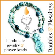 handmade pagan prayer beads