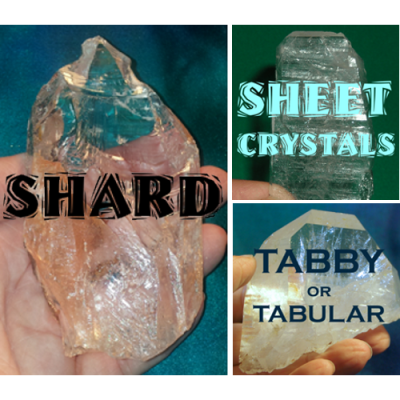 TABBY and SHEET and SHARD, OH MY! Crystals with Flat Shapes