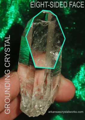 EIGHT-SIDED FACE or GROUNDING CRYSTAL - stop, refocus and ground