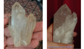 Metaphysical Quartz Crystal Description: LIGHTBRARY or CATHEDRAL