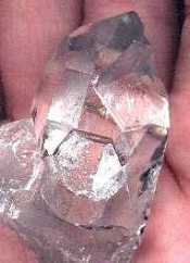 Key crystal, flat bottom, (photo credit: Arkansas Crystal Works)