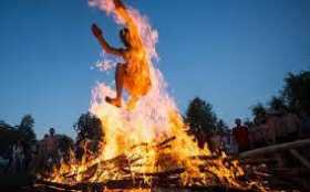 What Do You Shout While Leaping a Bonfire?