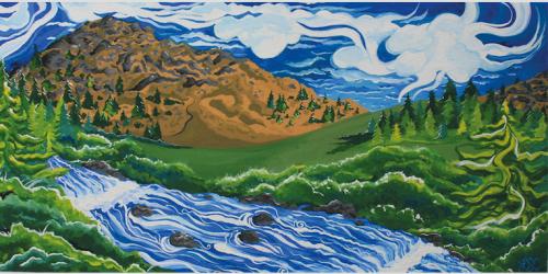 Summer Art, Women's art, landscape