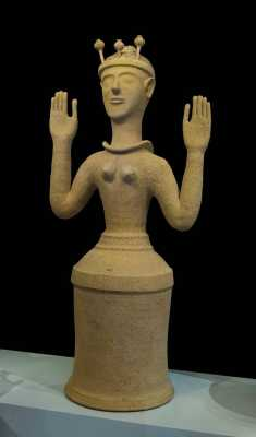 Modern Minoan Paganism: Ecstatic upraised arms