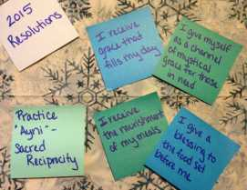 """Reciprocal Resolutions: Incorporating the Sacred Principle of """"Ayni"""" When Looking to 2015"""