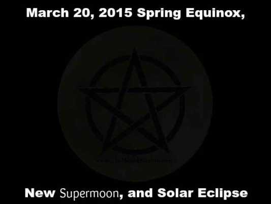 March 20, Supermoon and Solar Eclipse