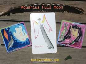Pick-a-Card for the Aquarius Full Moon: Take Care of YOU + Avoid Burnout