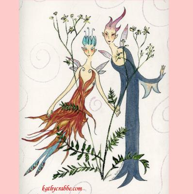 Gentle Meadowsweet Fairy Herbal Magick